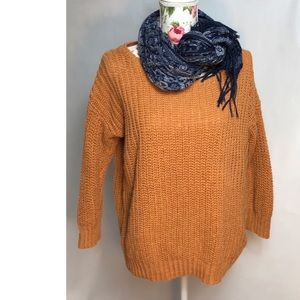 BOXY RUST COLOR SWEATER